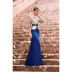 Vestido azul largo