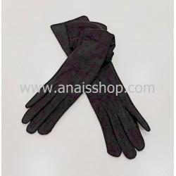 Guantes de antelina en color negro