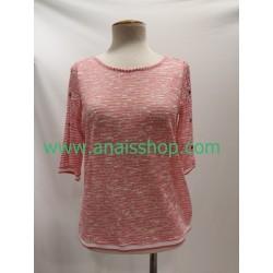 Jersey rosa con abertura en la espalda
