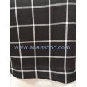 Pantalón negro de cuadro grande en blanco
