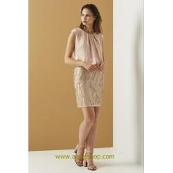 Vestido de vestir corto en color plata