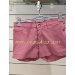 Short cinco bolsillos rosa