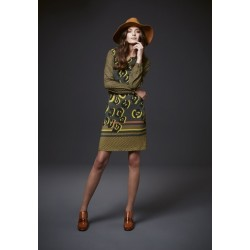 Vestido estampado en verdes