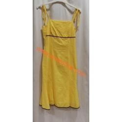 Vestido de plumeti amarillo