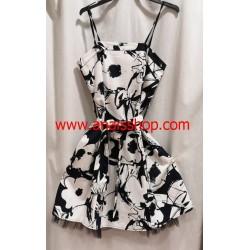 Vestido sesentero en blanco y negro