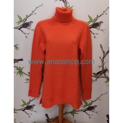 Mdm jersey basico de cuello vuelto en naranja
