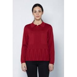 Jersey polo rojo