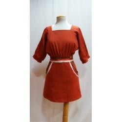 Vestido color butano